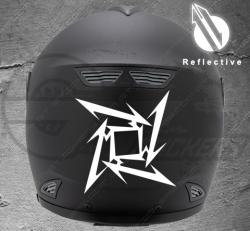 Stickers rétro-réfléchissant pour casque Metallica Star