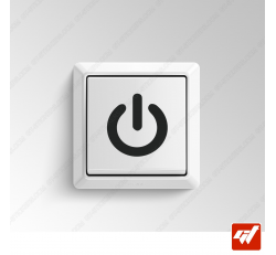 2 Stickers - logo power alimentation