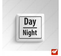 2 Stickers - Day & Night