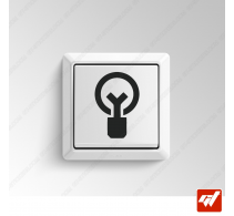 2 Stickers - Icone logo ampoule light bulb