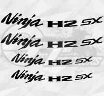 4 Stickers Kawasaki NINJA H2 SX Déco intérieur jantes Moto