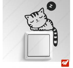Sticker - chat chaton qui dors / fait la sieste