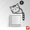 Sticker - chat chaton qui dors / fait la sieste