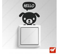 Sticker - chien hello manga