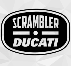 Sticker Ducati Scrambler Vintage