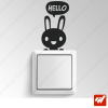 Sticker  - petit lapin hello manga