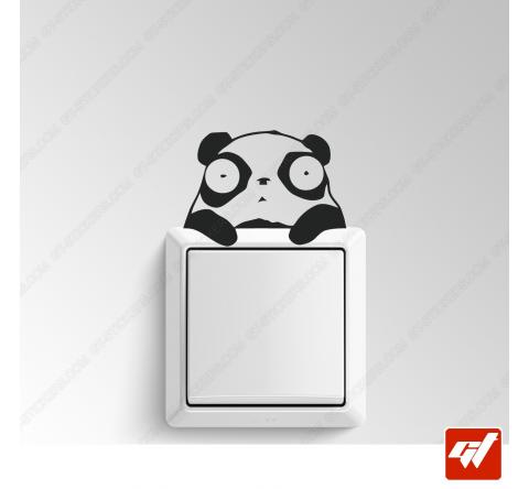 Sticker  - petit panda hello manga