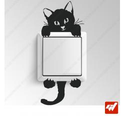 Sticker - petit chat / chaton escalade grimpe