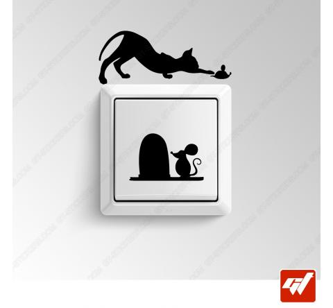 3 Sticker - Chat et souris