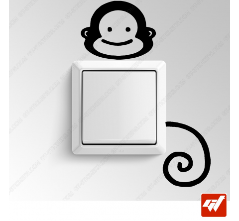 Sticker  - petit singe ouistiti