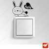 Sticker  - petit lapin hello