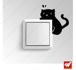Sticker - petit chat qui grimpe