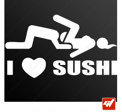 Stickers Fun/JDM - I love sushi