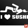 Stickers Fun/JDM - I love sushi
