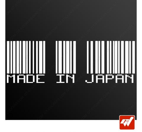 Sticker code barre made in japan