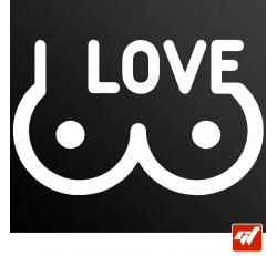 Stickers Fun/JDM - Boobs