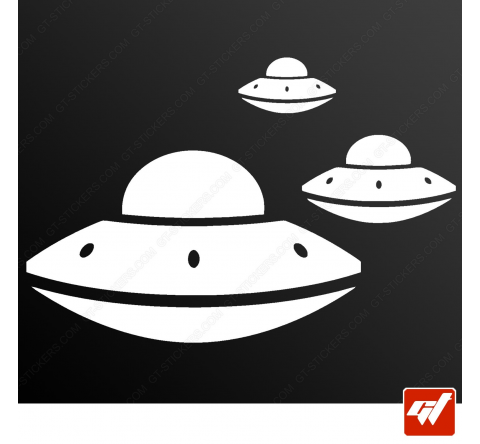 Sticker soucoupes volantes ovni ufo alien