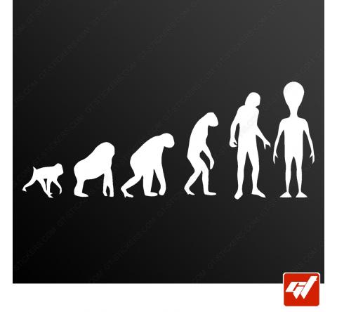 Stickers Fun/JDM - Évolution de l'homme