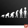 Sticker evolution homme alien