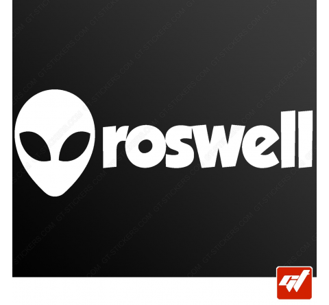 Sticker alien head roswell ovni ufo xfiles x files