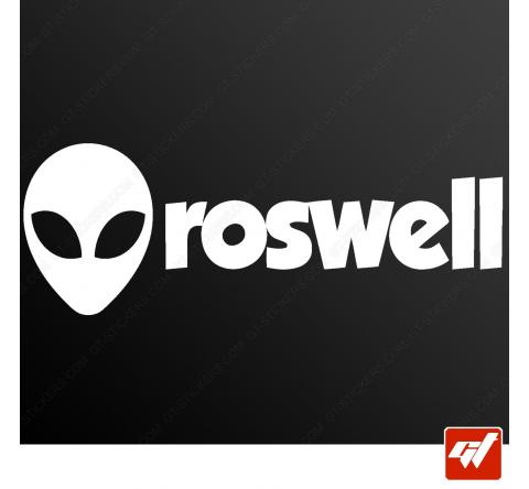 Sticker alien head roswell ovni ufo xfiles x files