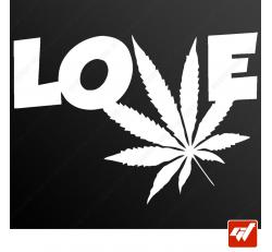 Stickers Fun/JDM - Ganja love