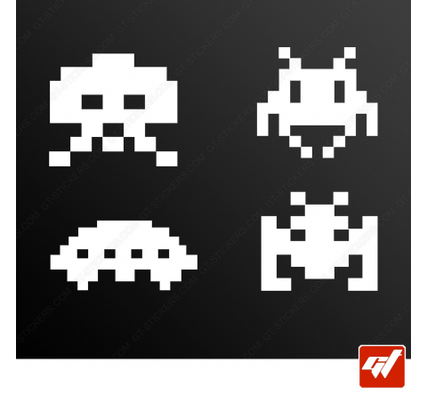 Stickers Fun/JDM - Space invaders