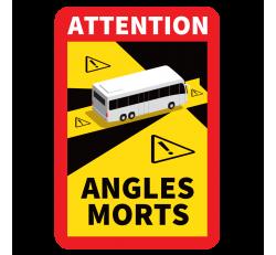 Autocollant Angle Mort Camping Car et bus