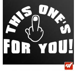 Stickers Fun/JDM - Fuck you !