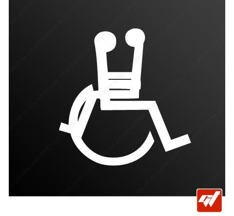 Sticker handicap love amour sexe
