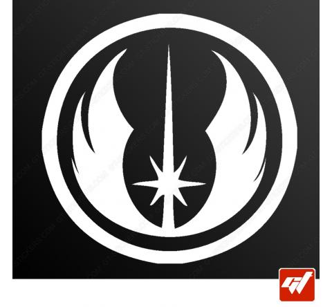 Sticker logo jedi starwars star wars