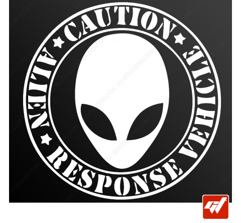 Stickers Fun/JDM - Caution Alien