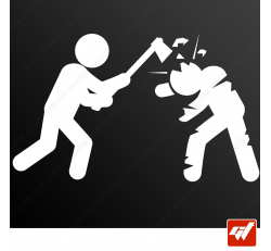 Stickers Fun/JDM - Zombie Killer