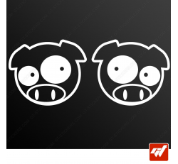 Stickers Fun/JDM - Angry Pigs