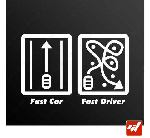Sticker fast car driver