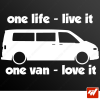 Sticker transporter vw volkswagen