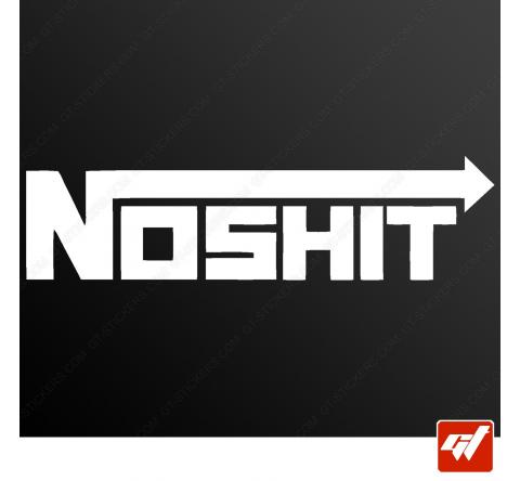 Sticker noshit nos nitrous oxyde