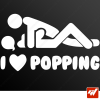 Sticker i love popping amour sexe