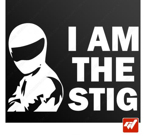 Sticker I am the stig top gear racing