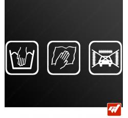 Stickers Fun/JDM - Hand wash