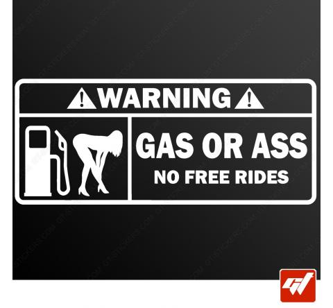 Sticker gas or ass