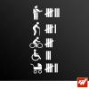Stickers Fun/JDM - Tableau de chasse