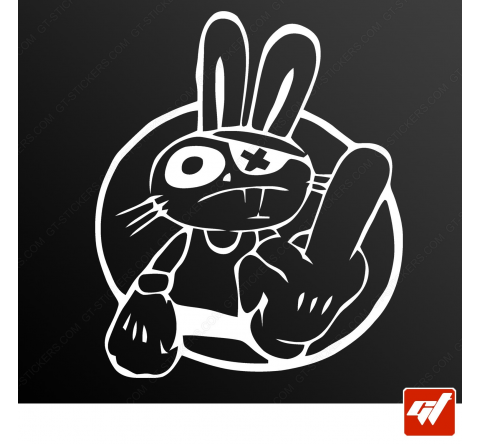 Sticker lapin rabbit bunny fuck you