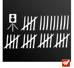 Stickers Fun/JDM - Chasseur de radars
