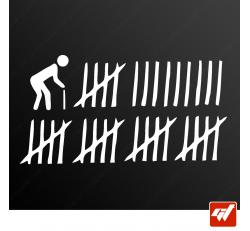 Stickers Fun/JDM - Tableau de chasse Humour