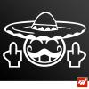 Sticker smiley mexicain fuck you