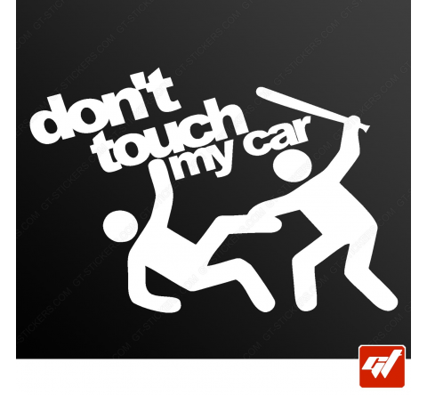 Stickers Fun/JDM - Don't touch my car