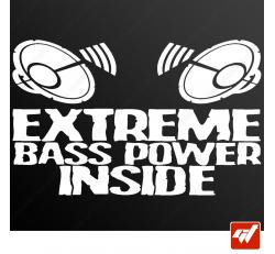 Stickers Fun/JDM - Extreme bass