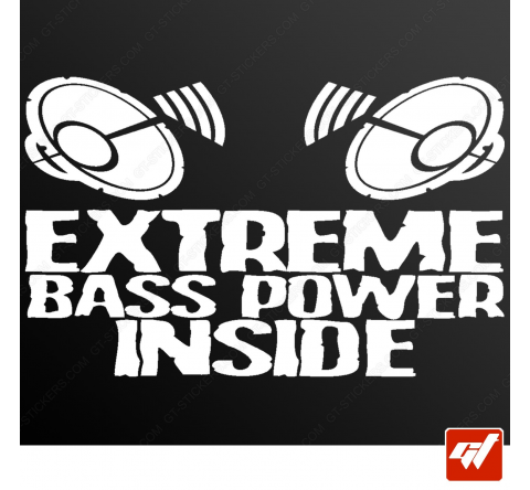 Stickers Fun/JDM - Extreme bass