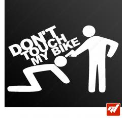 Stickers Fun/JDM - Don't touch my bike